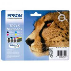 T0715 Multipack Printer Ink Cartridge (Cheetah)