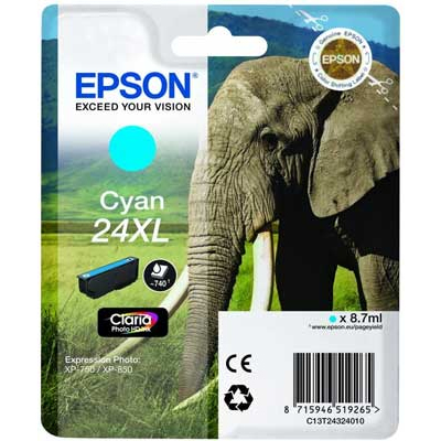 T2432 Cyan XL Ink Cartridge (Elephant)