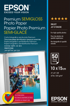 10cm x 15cm Premium Semigloss Photo 251gsm (50)