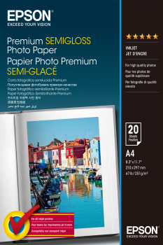 A4 Premium Semigloss Photo 251gsm 20 Sheets