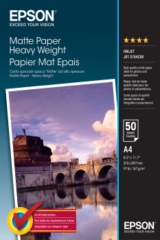 A4 Heavyweight Matte Paper 50 Sheets