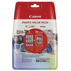 CLI-521 Photo Value Pack BK C M Y