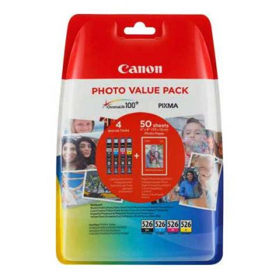 CLI-526 Photo Value Pack BK C M Y
